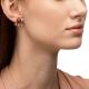 Black Pearl & Drops White Gold Earring