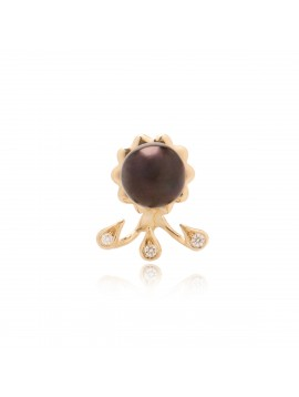 Black Peal Drops Earring