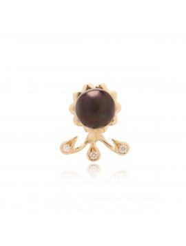 Orecchino Drops Perla Nera