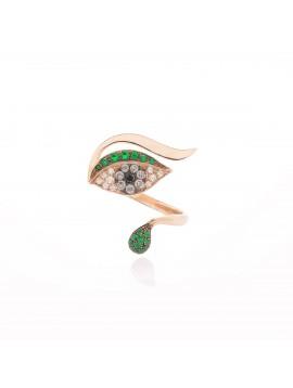 Anello Occhio Verde Luxe