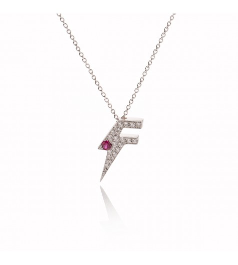 White Gold & Diamonds, Ruby Dj Flash Luxe Necklace