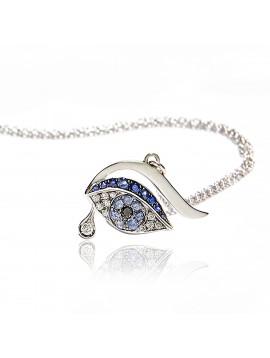 Collana Occhio Blu Luxe