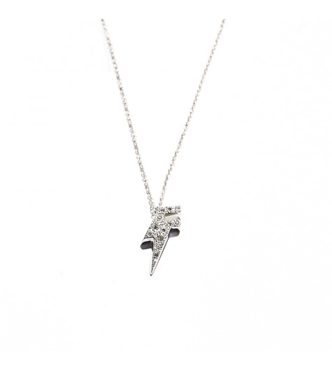 White Gold & Diamonds Dj Flash Necklace