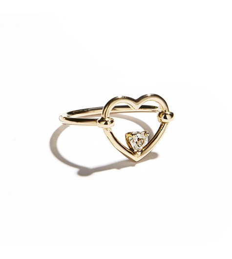 Rose Gold & White Diamond Love Me Luxe Ring