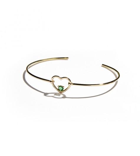 Rose Gold & Emerald Love Me Luxe Bracelet