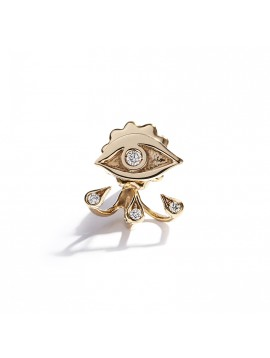 Rose Gold Eye and Drops Earring