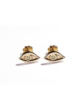Rose Gold & Citrine Quartz Eye Earrings